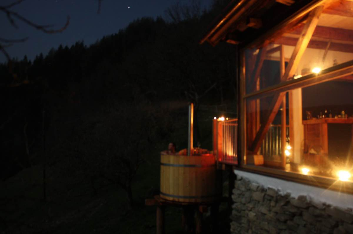 Wellness in the Alps - HotPot on the terrace - BienenAlm - Luxury alpine hut