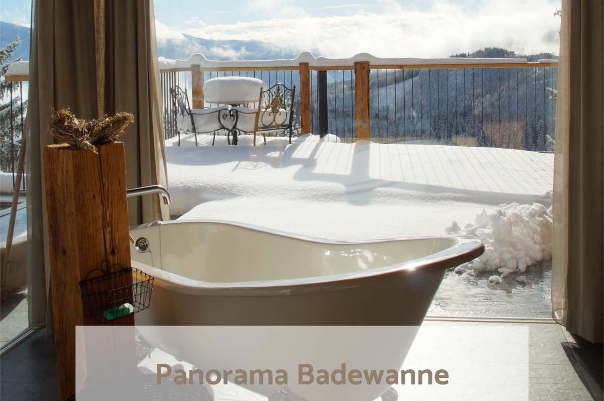FreeeStandig Bath - fabolous view - Zirbitzkogel - relaxing after skiing