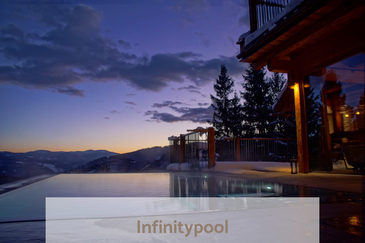 Infinity Pool - heated all the year (34 degrees) - underwater music - cromatherapie - Waldhaus